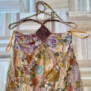 Dolce Cabo Bohemian Beaded Sequin Halter Size S